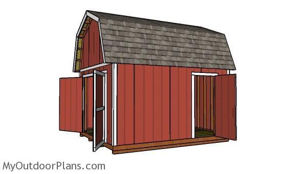 12x14 Gambrel Shed - Free DIY Plans