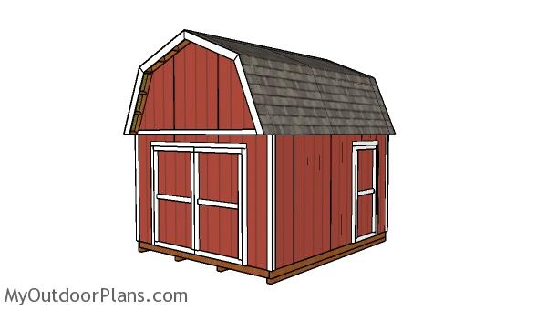 12x14 Gambrel Shed Plans