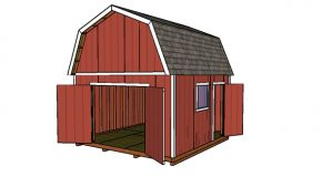 14×14 Gambrel Shed – Free DIY Plans