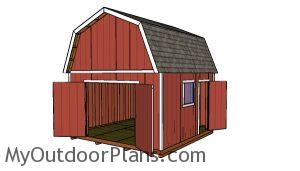 14x14 Barn Shed Plans