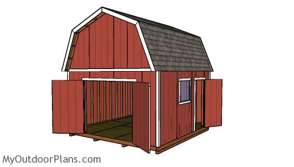 14x14 Gambrel Shed - Free DIY Plans
