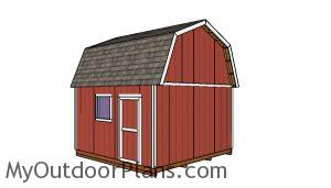 14x14 Barn shed - Back view