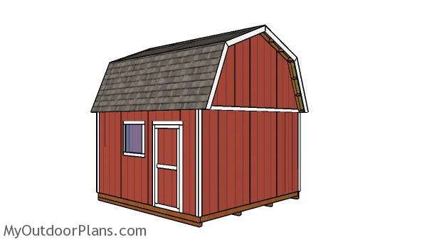 14x14 Gambrel Shed Roof Free Diy Plans Myoutdoorplans