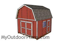 14x14 Gambrel Shed Plans