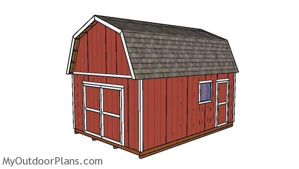 14x20 gambrel shed plans