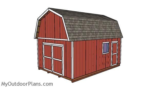 14x20 Gambrel Shed - Free DIY Plans