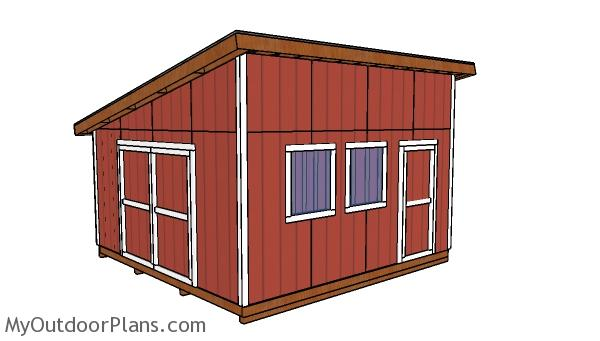 16x16 lean to shed plans