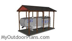 20x40 RV Carport Plans