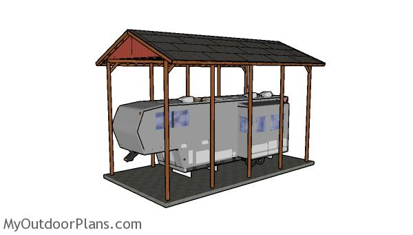 20x40 rv carport plans myoutdoorplans free woodworking for Boat storage shed plans