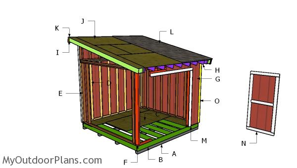 10x10 Lean to Roof Plans