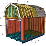 10×14 Gambrel Shed Roof Plans