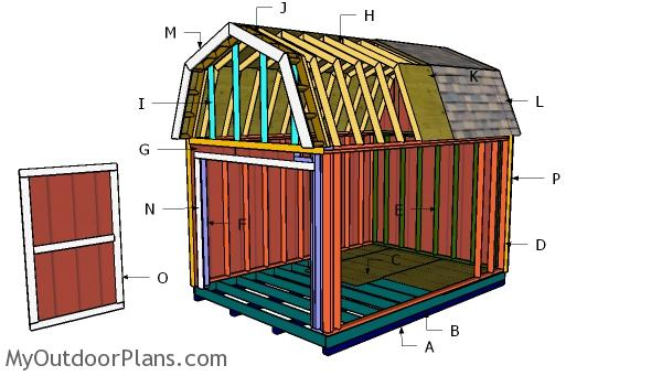 10x14 Gambrel Shed Roof Plans