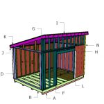 10×14 Lean to Shed Roof Plans