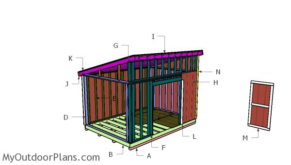 10x14 Lean to Shed Roof Plans