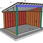 10×14 Run in Shed Roof Plans