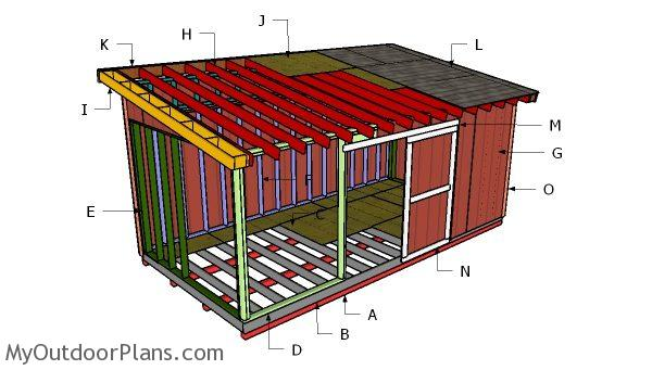 10x20 lean to shed roof plans myoutdoorplans free for How to build a tractor shed