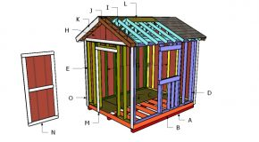 10×8 Gable Shed Roof Plans