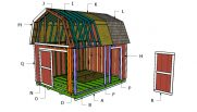 12×14 Gambrel Shed Roof – Free DIY Plans