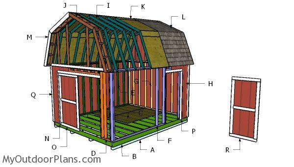 12x14 Gambrel Shed Roof Free Diy Plans Myoutdoorplans