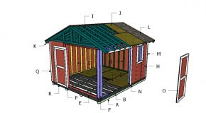 12×14 Gable Shed Roof Plans