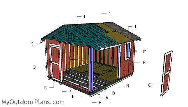 12x14 Gable Shed Roof Plans