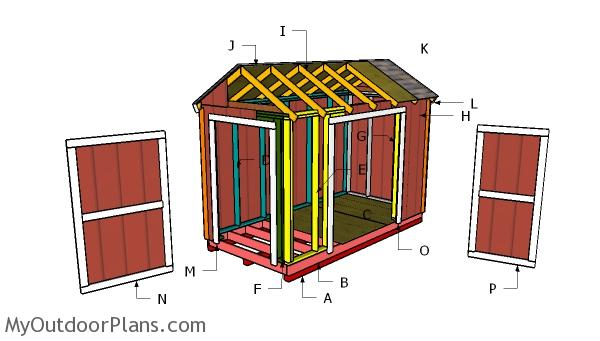 12x6 Gable Shed Roof - Free DIY Plans
