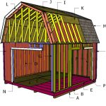 14×14 Gambrel Shed Roof – Free DIY Plans