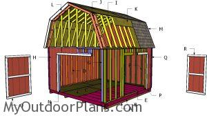 Building a 14x14 barn shed