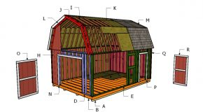 14×20 Gambrel Shed Roof Plans