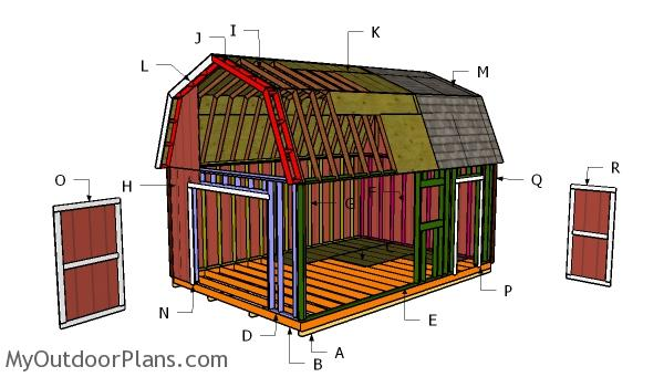 14x20 Gambrel Shed Roof Plans