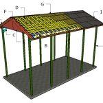 20×40 RV Carport Gable Roof Plans