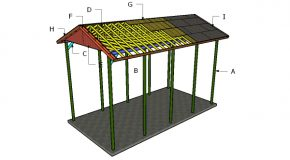 20×40 RV Carport Gable Roof Plans