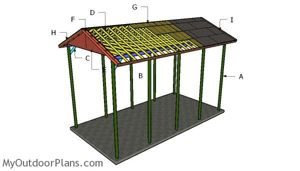 20x40 RV Carport Gable Roof Plans | MyOutdoorPlans | Free Woodworking Plans and Projects, DIY ...