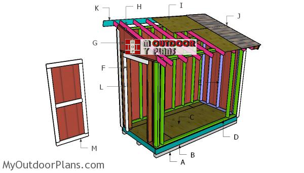 Building-a-5x10-lean-to-shed