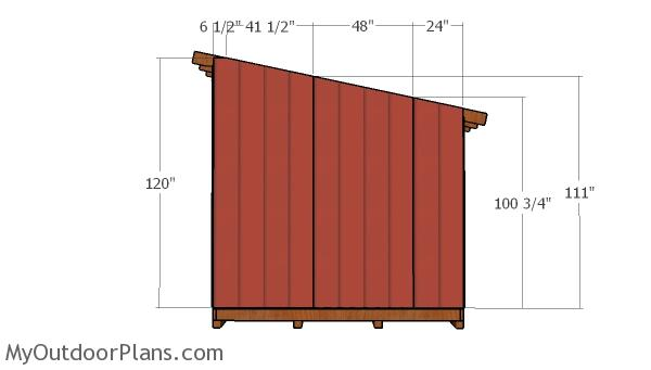 Building the side wall sheets