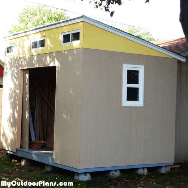 DIY 8x12 Lean to Shed