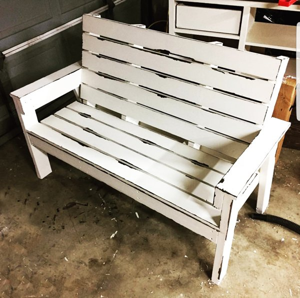 DIY Large Garden Wooden Bench