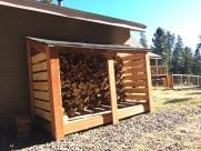 DIY Simple Firewood Storage Shed