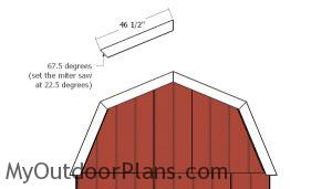 Fitting the barn shed roof trims