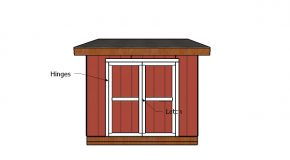 10×10 Lean to Shed Doors Plans