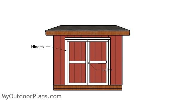 10x10 Lean to Shed Doors Plans