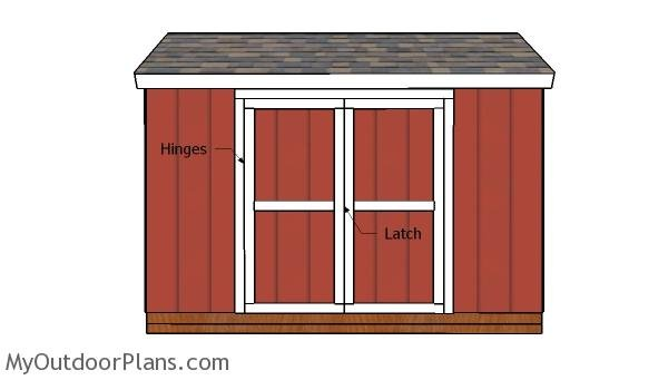12x6 gable shed doors free diy plans myoutdoorplans for Double door shed plans