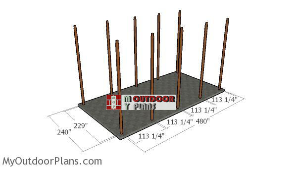 Fitting-the-posts-rv-carport