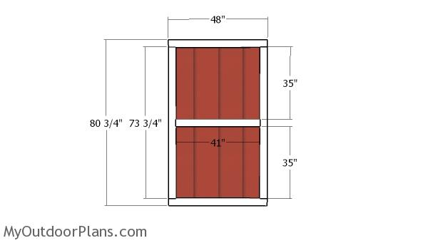 Front Shed Doors