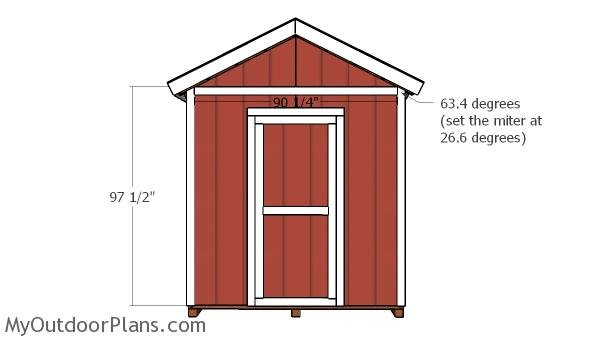 10x8 Shed Door and Trims Plans