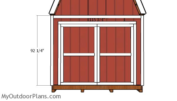 10x14 Barn Shed Doors Plans