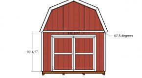 12×14 Gambrel Shed Doors Plans
