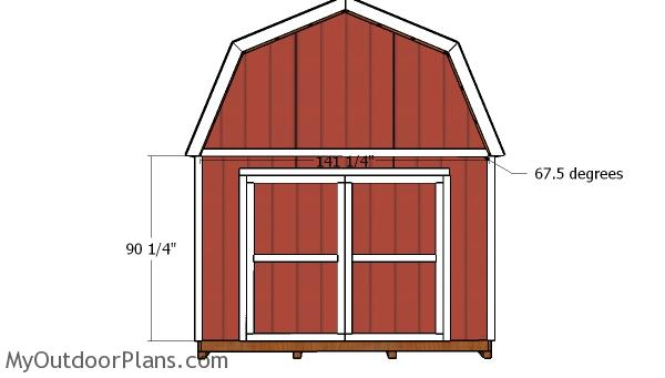 12x14 Gambrel Shed Doors Plans