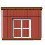 10×14 Lean to Shed Door Plans