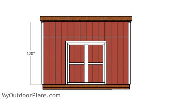 10x14 Lean to Shed Door Plans